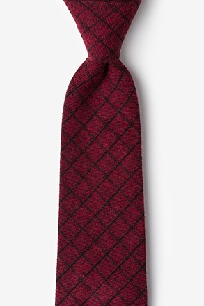 _San Luis Red Extra Long Tie_