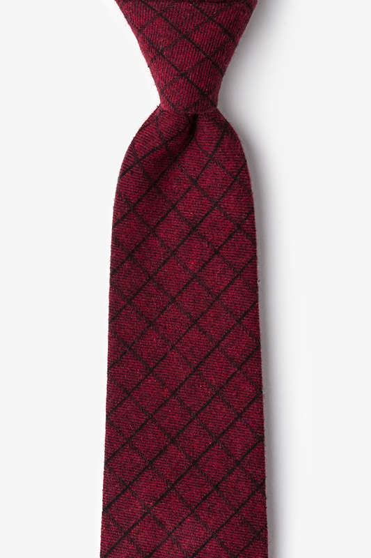 San Luis Red Extra Long Tie Photo (0)