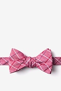 Red Cotton Seattle Butterfly Bow Tie