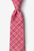 Red Cotton Seattle Tie
