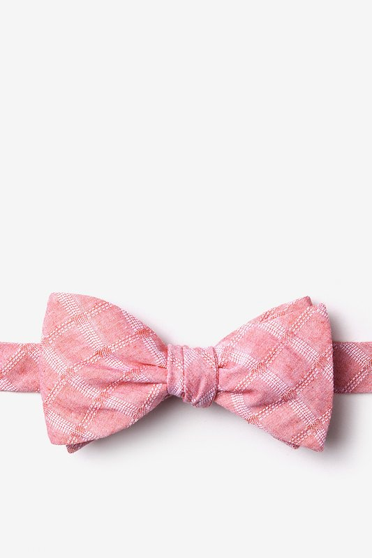 Tacoma Red Self-Tie Bow Tie Photo (0)