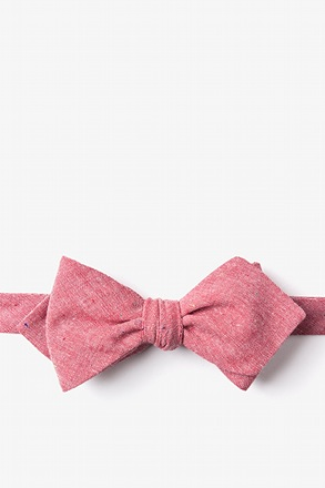 _Teague Red Diamond Tip Bow Tie_