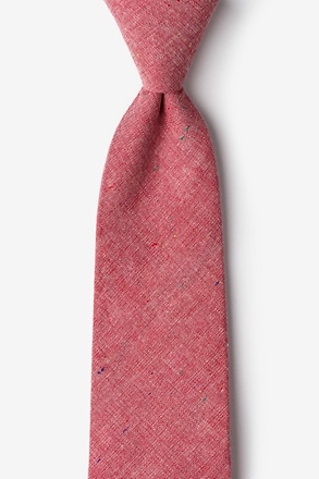 _Teague Red Extra Long Tie_