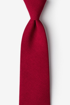 _Tioga Red Extra Long Tie_