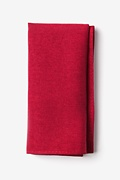 Red Cotton Tioga Pocket Square