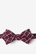 Red Cotton Tucson Diamond Tip Bow Tie