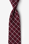 Red Cotton Tucson Extra Long Tie
