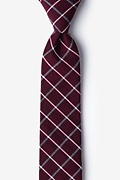 Red Cotton Tucson Skinny Tie