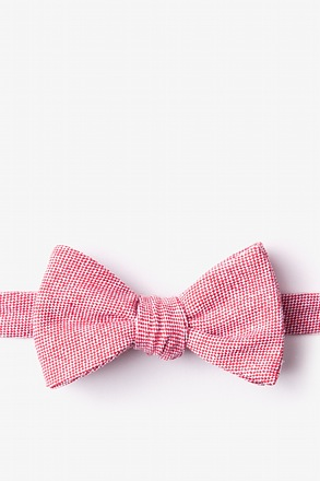 _Westminster Red Self-Tie Bow Tie_