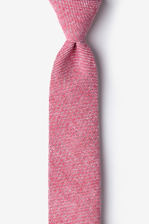 Westminster Red Skinny Tie