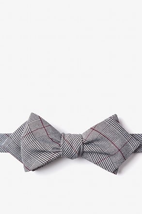 _Williams Red Diamond Tip Bow Tie_