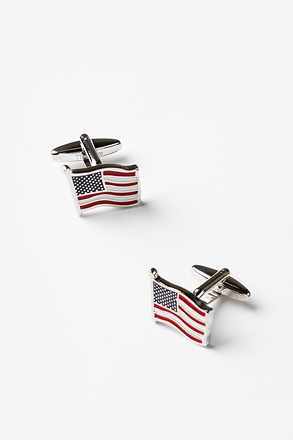 _American Flag Red Cufflinks_
