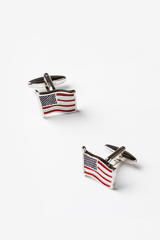 American Flag Red Cufflinks