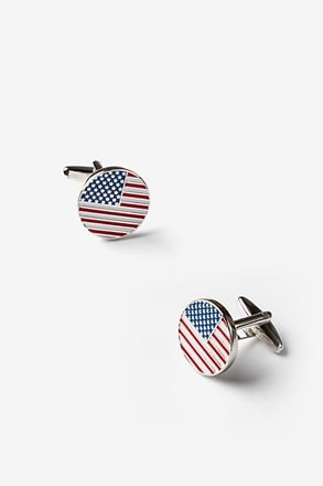 American Flag Cufflinks Red Cufflinks
