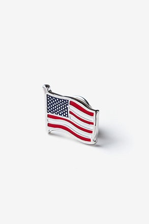 American Flag Red Lapel Pin