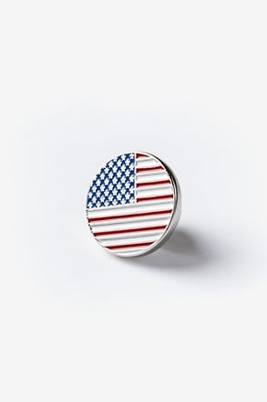 _American Flag Red Lapel Pin_