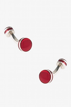 Circled Barbell Cufflinks
