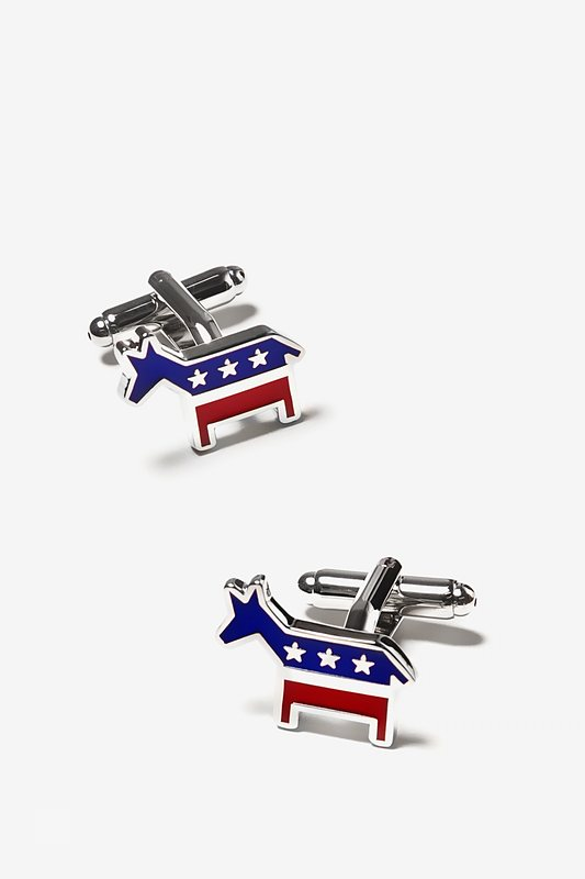 Democratic Donkey Red Cufflinks
