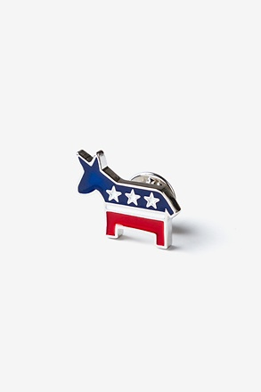 _Democratic Donkey Red Lapel Pin_