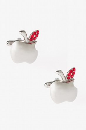 Fancy Apple Cufflinks