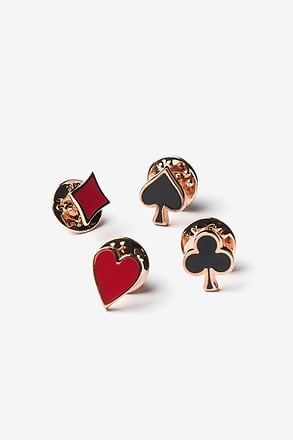 Poker Suits Red Lapel Pin