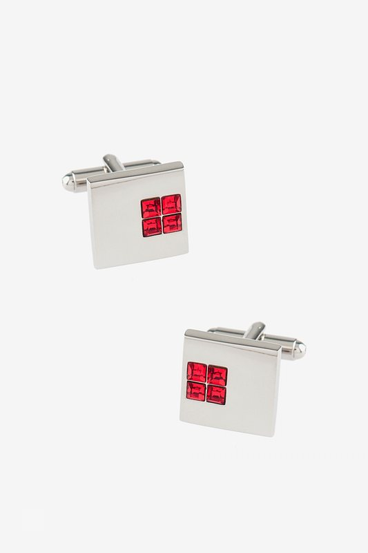Solid Studded Square Cufflinks