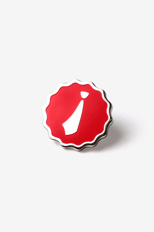 Ties.com Red Lapel Pin Photo (0)