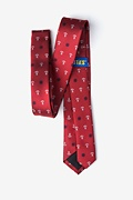 Anchors & Ships Wheels Red Skinny Tie Photo (1)