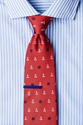 Anchors & Ships Wheels Red Tie Photo (1)