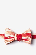 Red Microfiber Bacon Forever Butterfly Bow Tie
