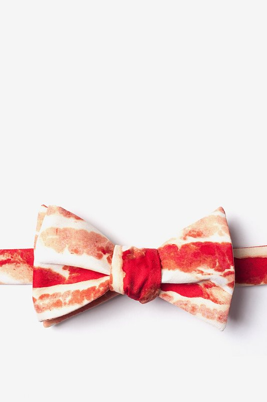 Bacon Forever Self-Tie Bow Tie Photo (0)