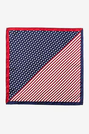 Bars & Stars Pocket Square Red Pocket Square