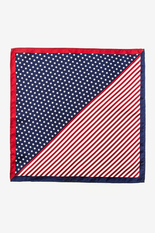 Bars & Stars Pocket Square Red Pocket Square Photo (0)