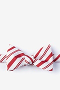 Red Microfiber Candy Cane Self-Tie Bow Tie