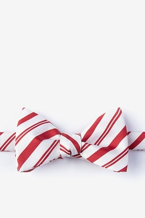 _Candy Cane Red Self-Tie Bow Tie_