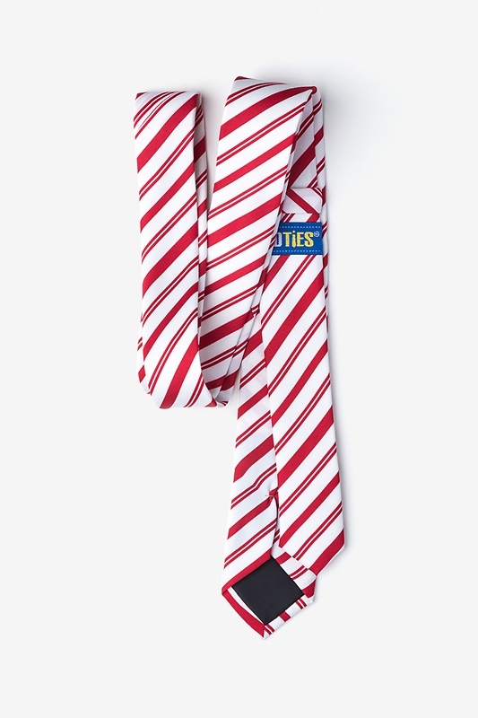 Candy Cane Red Skinny Tie