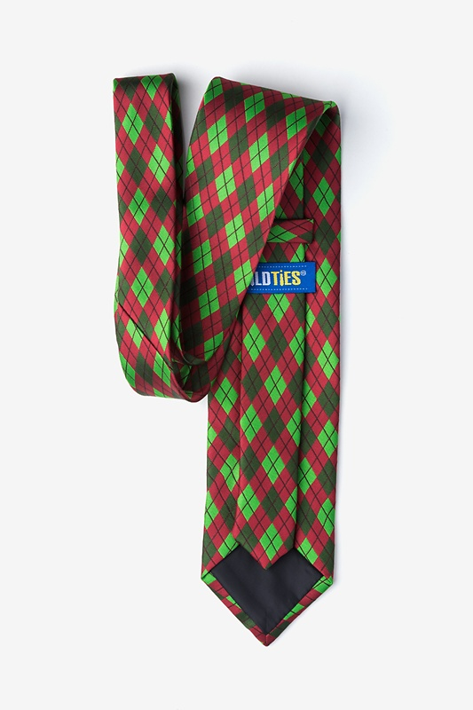 Christmas Argyle Extra Long Tie