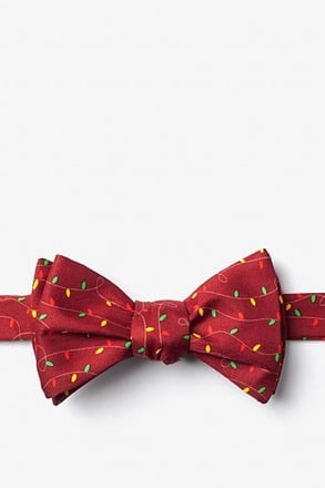 Christmas Lights Butterfly Bow Tie