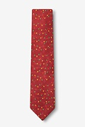 Christmas Lights Red Skinny Tie Photo (1)