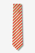 Christmas Stripe Red Skinny Tie Photo (1)