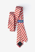 Christmas Stripe Red Skinny Tie Photo (2)