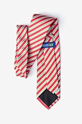 Christmas Stripe Red Tie Photo (1)