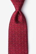 Red Microfiber Four Eyes Extra Long Tie