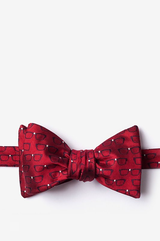 Four Eyes Red Self-Tie Bow Tie Photo (0)