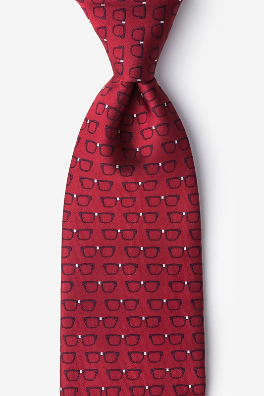 Four Eyes Red Tie Photo (0)