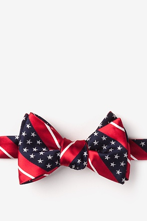 _Freedom Stripe Red Self-Tie Bow Tie_