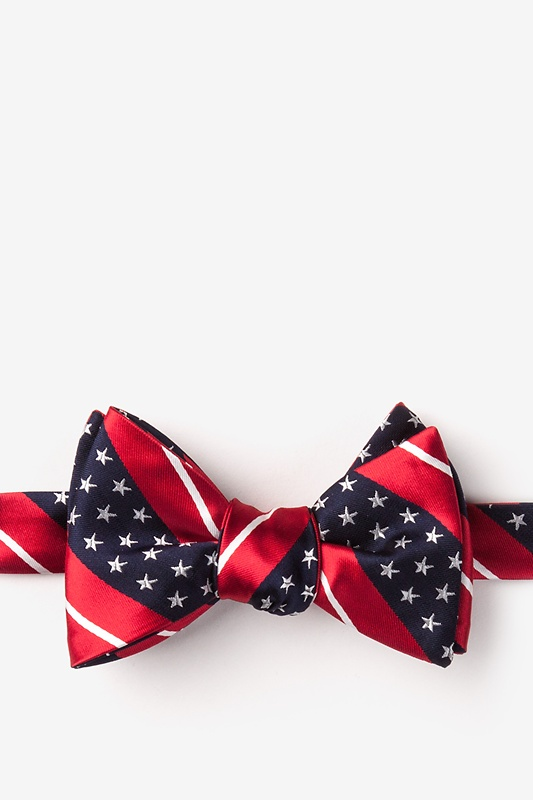 Freedom Stripe Red Self-Tie Bow Tie Photo (0)