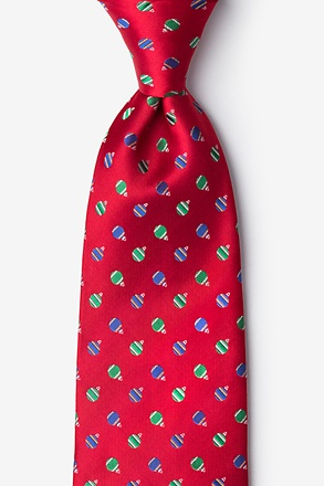 Holiday Ornaments Tie