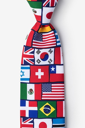 International Flags Tie
