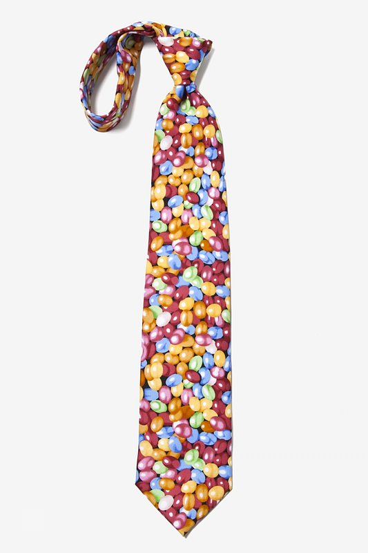 Jelly Beans Microfiber Red Tie Photo (2)